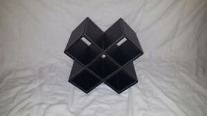Faux Leather Wine Rack - Holds 5 bottles (used)