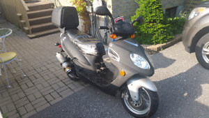 Black Gas powered scooter