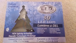 Almost new LED indoor Christmas lights (4 sets of 50) multicolor