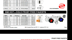 Brand new HOT and COLD outside faucet