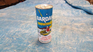 Vintage Bardahl snowmobile oil can