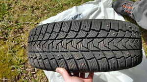Studded 185 60R/15 winter tires