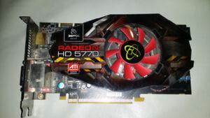 GRAPHICS CARD ATI Radeon HD 5770 1GB GDDR5 SDRAM PCI Express x16