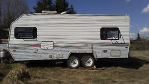 enclosed or flat deck trailer to trade for my travel trailer