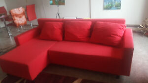PRICE REDUCED -SOFA CONVERTIBLE -BED, VERY COMFORTABLE& STRONG