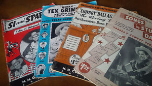 Vintage Country Music Song Books