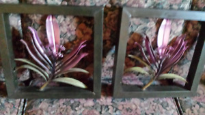 TWO BEAUTIFUL  METAL  WALL  ART  PIECES