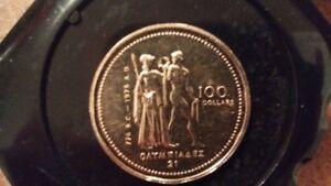 pièce de monnaie 1976 en or 14k - 1976 olympic 14k gold coin