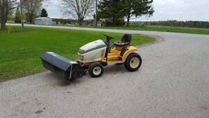 "Cub Cadet HDS 2185 48"" Deck and a Berco land Sweeper Brush"