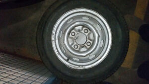 *price drop* Tiger - 165R15 tires on rims bolt pattern 4x130.
