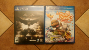 JEUX PLAYSTATION 4 BATMAN ET LITTLE BIG PLANET 3 ÉCHANGE/VENTE