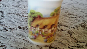 FINE BONE CHINA MUG, Signed H. Hague, Amazon, England