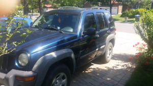 2002 jeep liberty for repair or parts