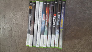 Xbox 360 games (Prices listed)