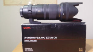 Sigma 70-200mm f2.8 for Nikon