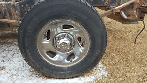 4 snow tires on Dodge 5 bolt truck rims