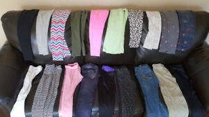 Girls leggings/track pants/jeans. Size 7/8