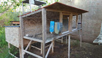 Hutches and Feeders for Outdoor/Indoor Rabbits