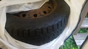 Winter tires (215/75r16), one year old, on rims
