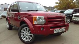 2009 LAND ROVER DISCOVERY 3 TDV6 HSE FANTASTIC RIMINI RED HSE WITH BEIGE LE