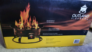 Outdoor firepit with carrying bag