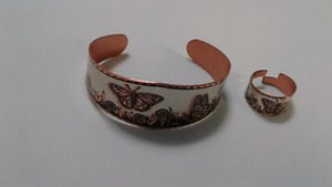 Copper bracelet and ring