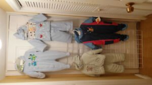 Boy Baby Snow Suits, Size 6/9, 12 and 24 months.