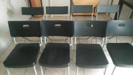 8 x ikea black chairs