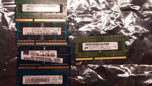 DDR3 Laptop Memory Modules 4x4Gb @ $25ea And 1x2Gb @ $10
