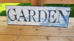 Beautiful Rustic Garden Sign