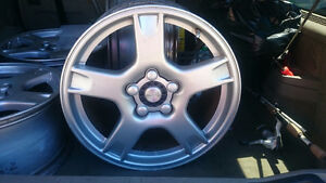 OEM Replica Corvette wheels.  18x9 and 19x10. Silver.  5x120.65