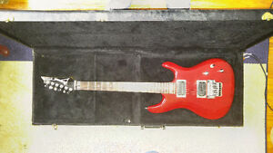 ibanez js 100 with hard stage ready travel case.