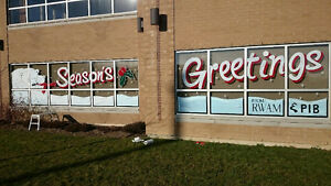 Window Art and Advertising / Hand Painted Signs Cambridge Kitchener Area image 3