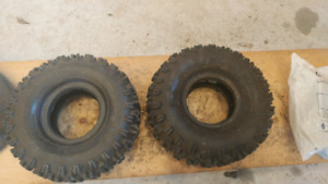 Two 4.10 - 4 Tires and Tubes (no rims)