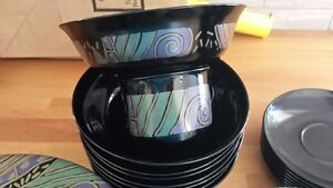 40 Pieces of Black Dishes - Mint Condition ** REDUCED ** Kawartha Lakes Peterborough Area image 3