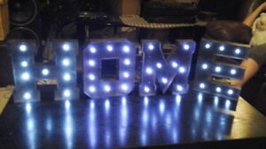 battery operated tin letters