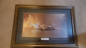 Beautiful Painting of a Spitfire by Barrie A. F. Clark