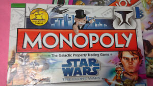 Star Wars The Clone Wars Monopoly by Parker Brothers