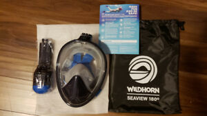 Full Face Panoramic Snorkle Mask - Brand new