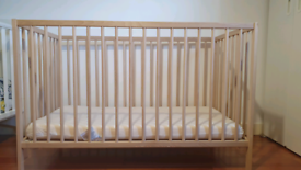 IKEA baby cot (and mattresse with cover if you want)