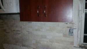 ► Two upper Kitchen cabinets 3ft tall, 29 1/4 wide x 12 3/4