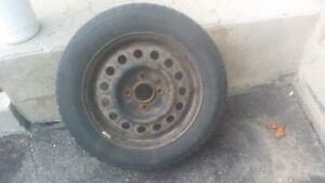 4 Winter Tires with Rims 185/65R15 Priced for immediate Sale