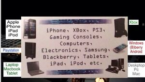 iPhone/iPad/PC/Laptop/PS3/PS4/XBOX ONE REPAIRS Service 24/7
