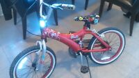 girls 18' red barbie bike only 7 month old