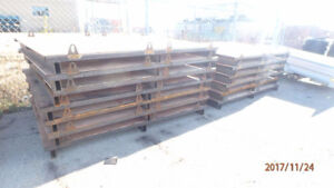 Platform or skid for shipping container mezzanine