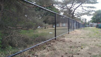 Chain Link Fencing Installations – Boulet Fence Construction