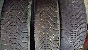 3xGoodyear nordic studded m+s tires P185/65R14 $20 only cheap