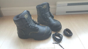 New Womens steel cap safety work boots