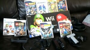 WII with Mario Kart and games