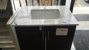 bathroom vanity with quatzs  counter-top